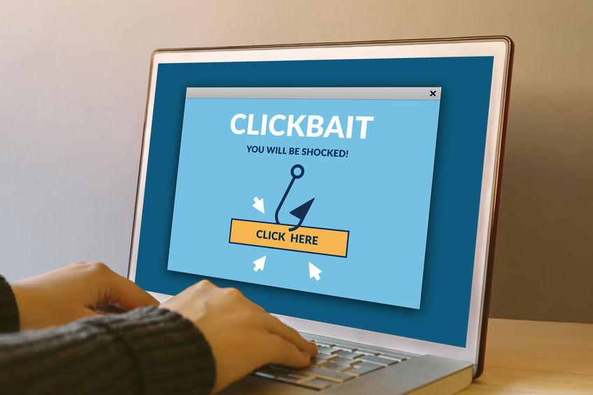 """De strijd tegen """"trick to click""""-links, oftewel Clickbait"""