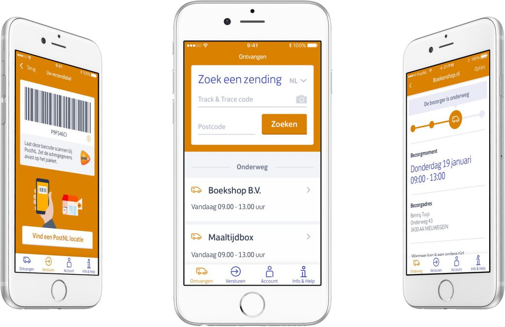 Android PostNL app