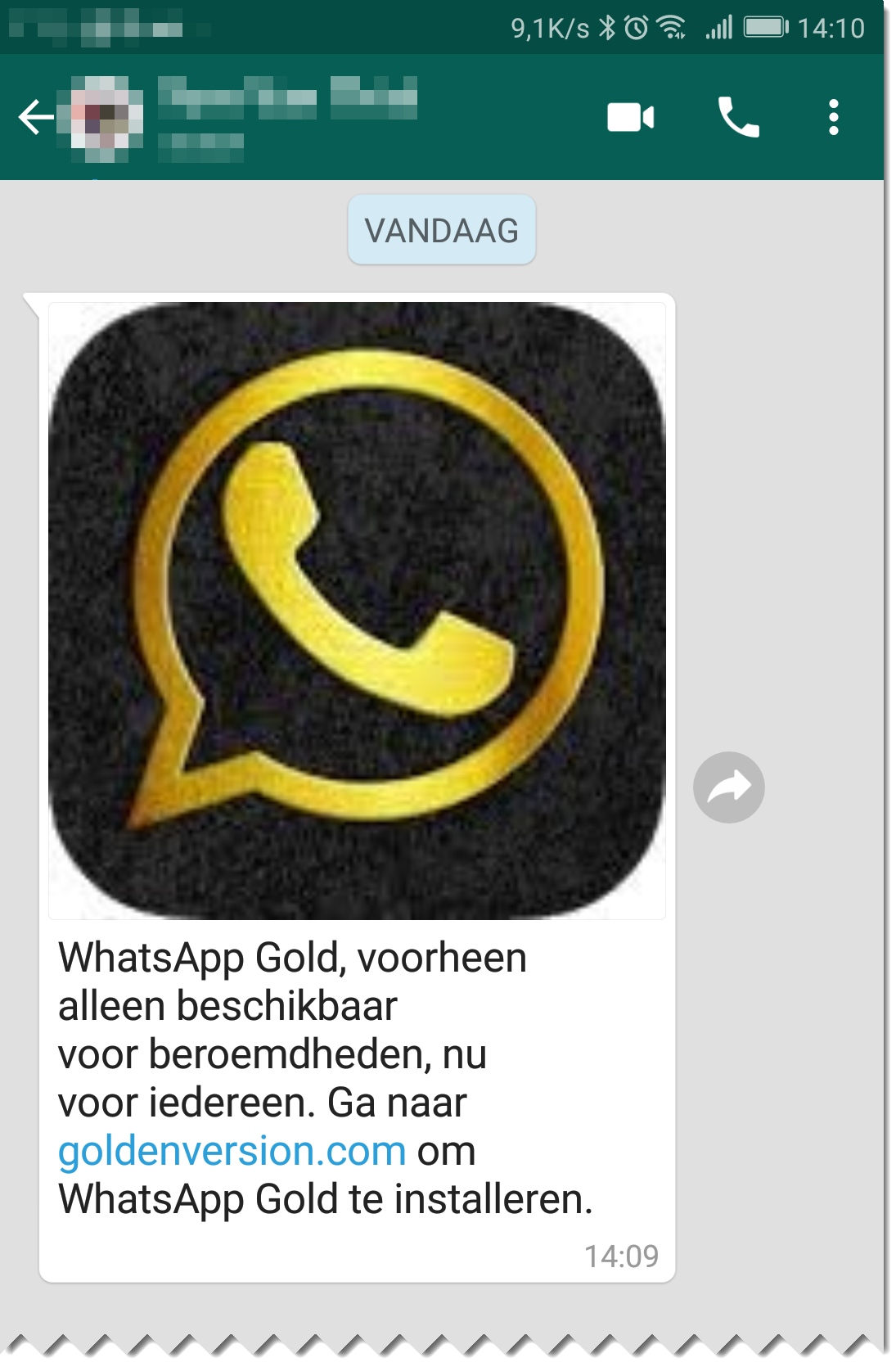 De WhatsApp Gold scam