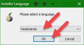 Kies de taal