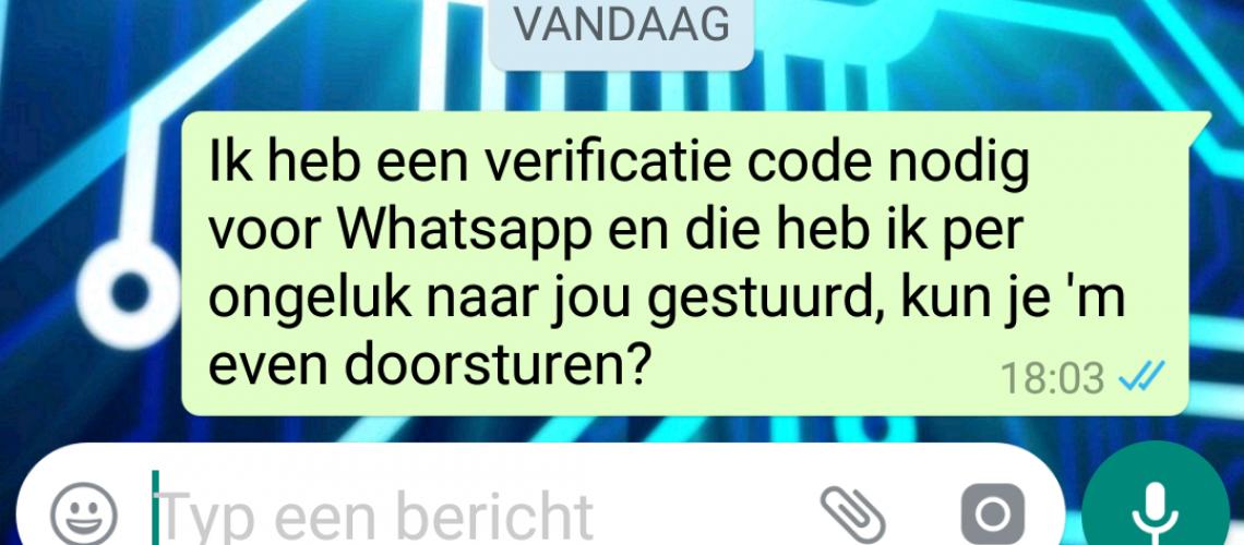 whatsapp verificatie codes